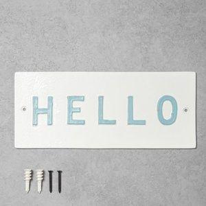 Hearth & Hand Magnolia 'Hello'WallSignWhite/Light